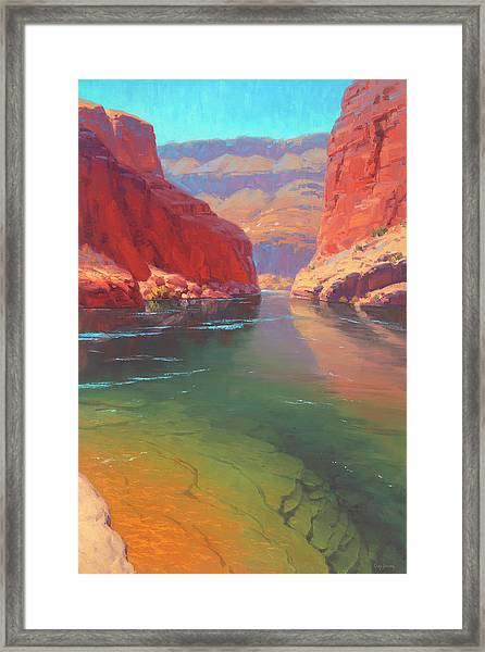 Clear Currents Framed Print