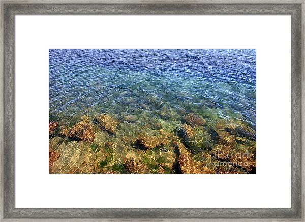 Clear Water At Morro Bay Framed Print