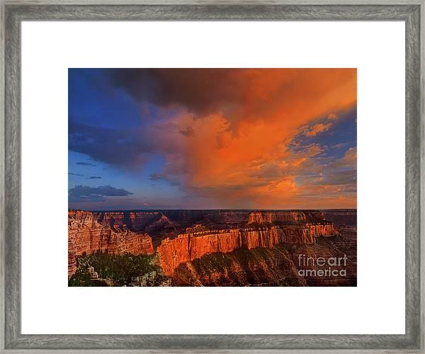 Clearing Storm Cape Royal North Rim Grand Canyon Np Arizona Framed Print
