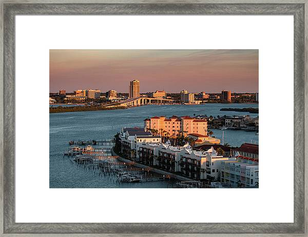 Clearwater Evening Framed Print
