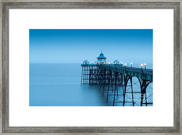 Cleve Don Pier, Early Morning Framed Print
