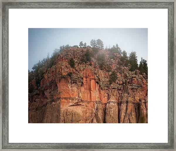 Cliff Face Hz Framed Print