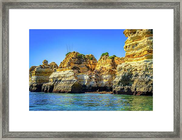 Cliff Of Lagos I Framed Print