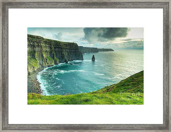 Cliffs Of Moher At Sunset, Co. Clare Framed Print