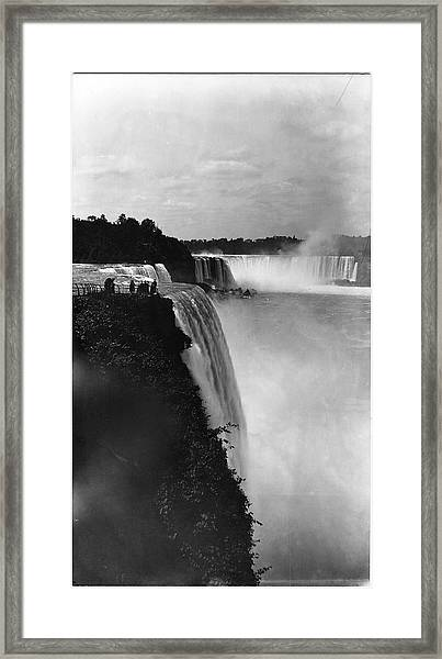 Close Side View Of American Falls Framed Print