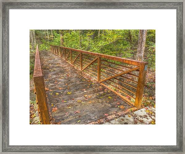 Close Up Of Bridge At Pine Quarry Park Framed Print