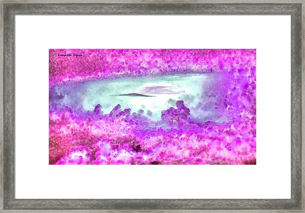 Cloud Abstractions Purple - Da Framed Print