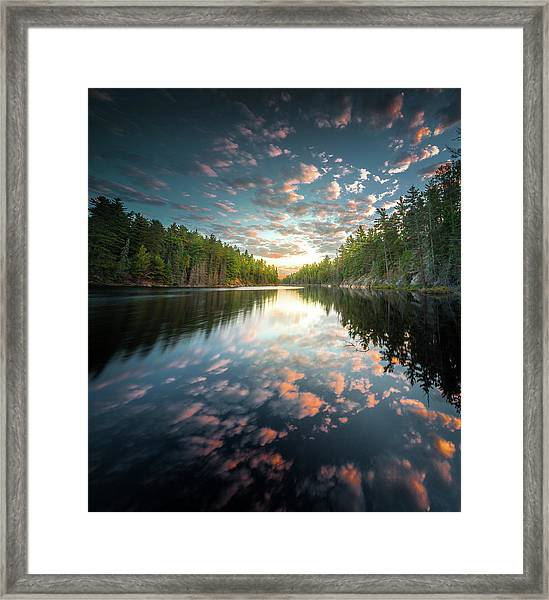 Cloud Atlas / Boundary Waters, Minnesota  Framed Print