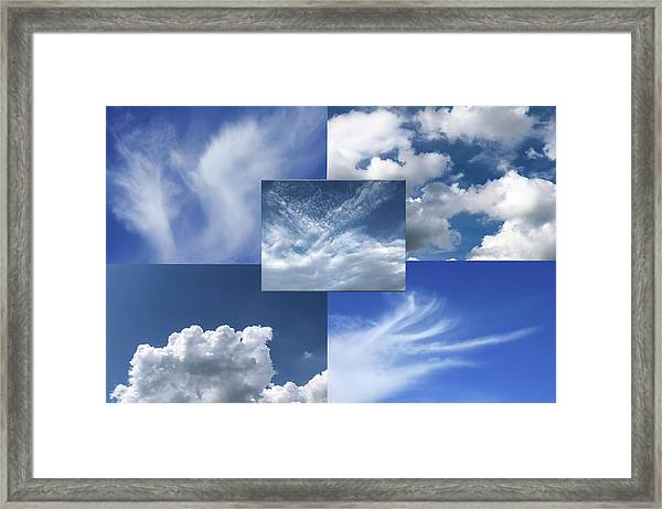 Cloud Collage Two Framed Print