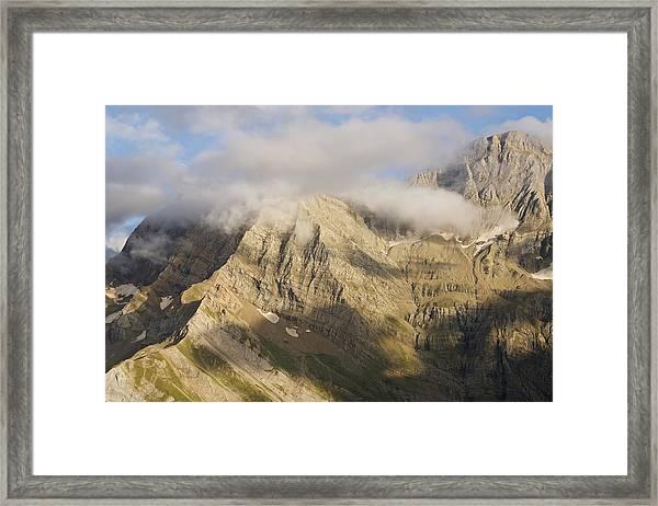 Cloud Hits Marbore Framed Print