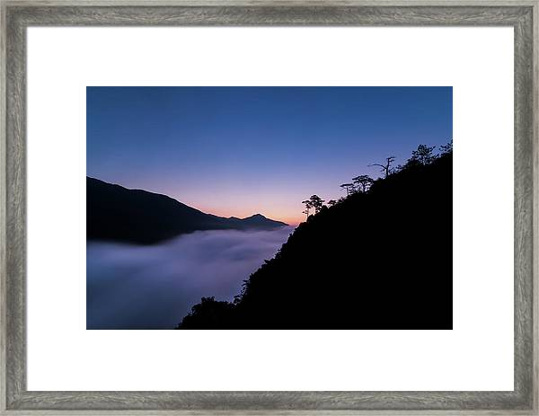 Framed Print featuring the photograph Cloud River Twilight by William Dickman
