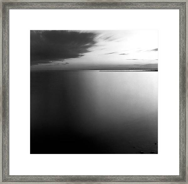 Clouds And Water Framed Print by Adam Garelick
