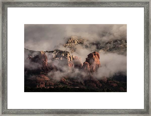 Clouds Over Sedona 2 Framed Print