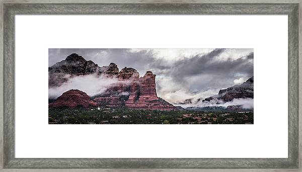 Clouds Over Sedona Framed Print