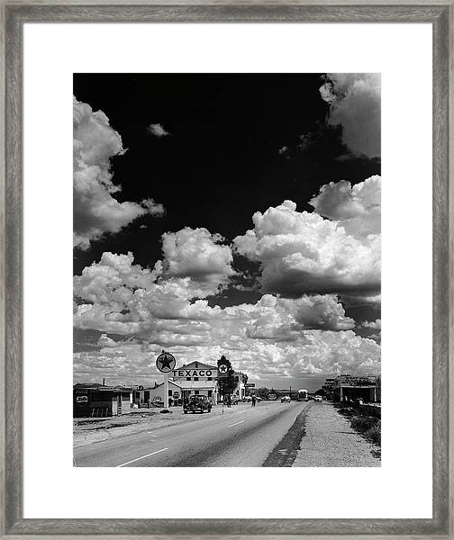 Clouds Over Seligman Framed Print