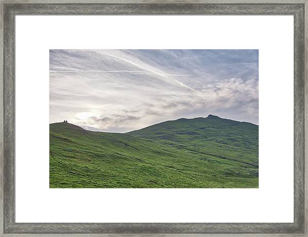 Clouds Over Thorpe Cloud Framed Print