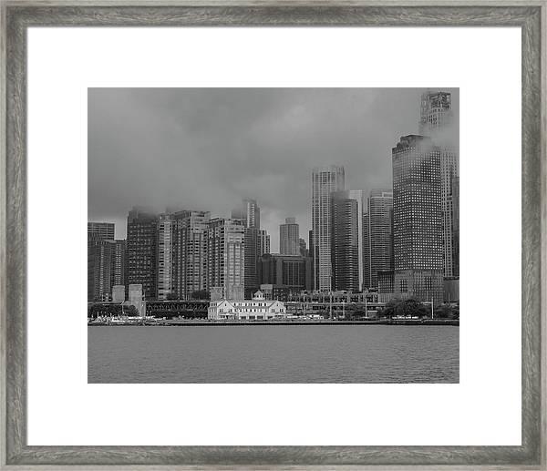 Cloudy Skyline Framed Print