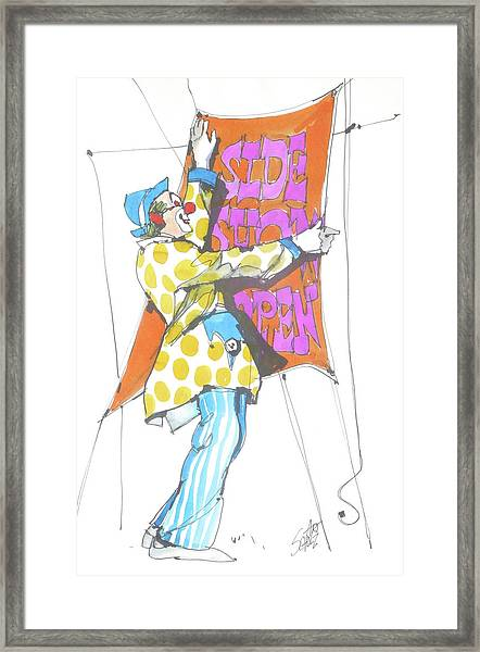 Clown Framed Print by Art Scholz