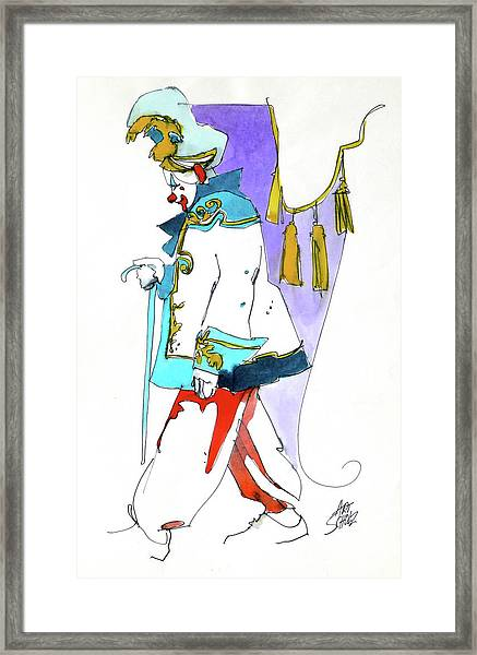 Clown Walk Framed Print by Art Scholz