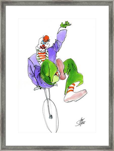 Clowns Framed Print by Art Scholz