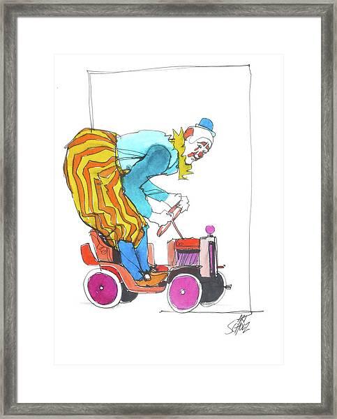 Clown's Car Framed Print by Art Scholz