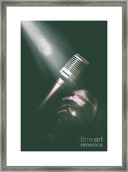 Club Karaoke Framed Print