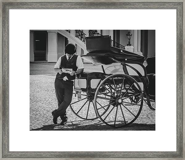 Coachman's Pastime Framed Print
