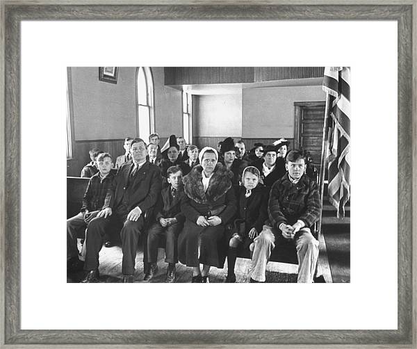 Coal Miner Mike Kalenak Sitting Proudly Framed Print