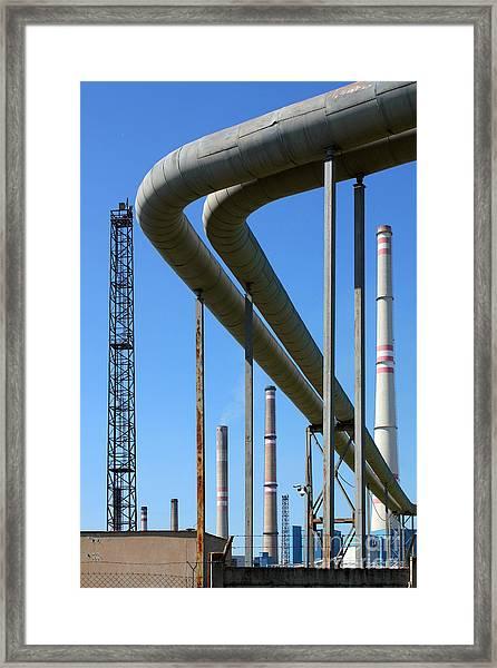 Coal Power Plant Framed Print