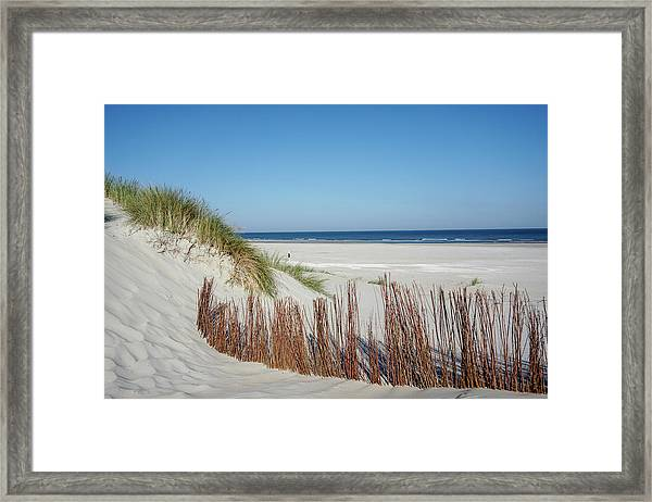 Framed Print featuring the photograph Coast Ameland by Anjo Ten Kate