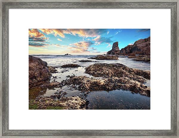 Framed Print featuring the photograph Coast At Sozopol, Bulgaria by Milan Ljubisavljevic