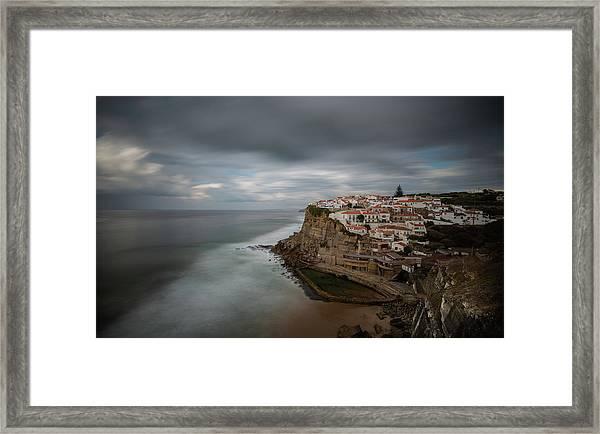 Coastal Village Of Azenhas Do Mar In Portugal Framed Print