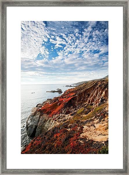Coastline At Soberanes Framed Print