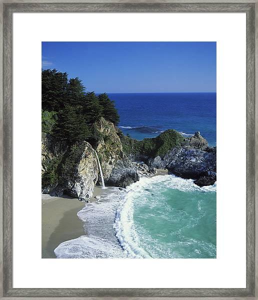 Coastline, Big Sur, California, Usa Framed Print by Richard Price