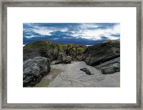 Coastline Castle Framed Print