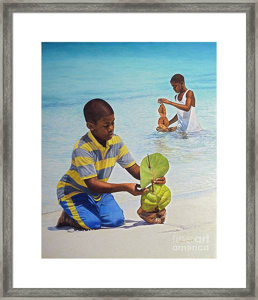 Coconut Boats Framed Print