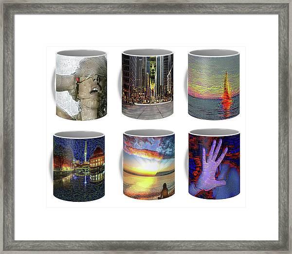 Coffee Mugs Samples Framed Print