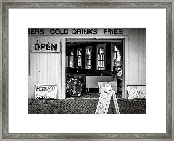 Framed Print featuring the photograph Cold Drinks by Steve Stanger