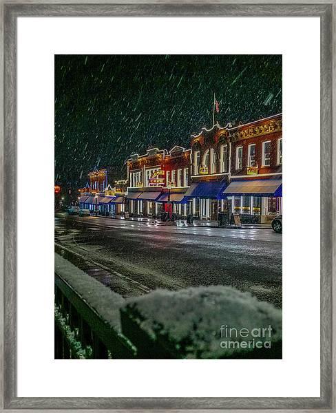 Cold Night In Cripple Creek Framed Print