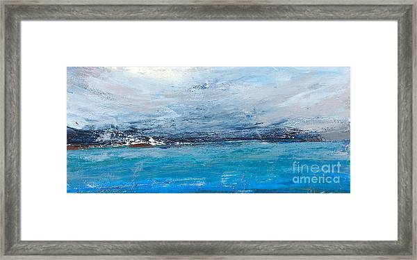 Cold Ocean, Landscape With The Sea Framed Print