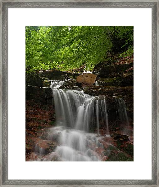 Cold River Framed Print