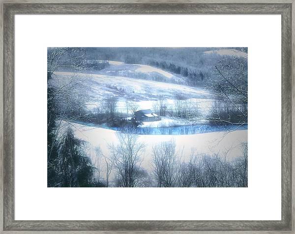 Cold Valley Framed Print