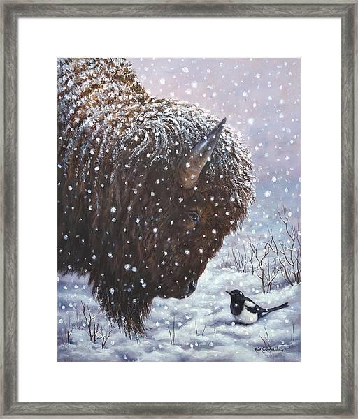Cold Weather Cohorts Framed Print