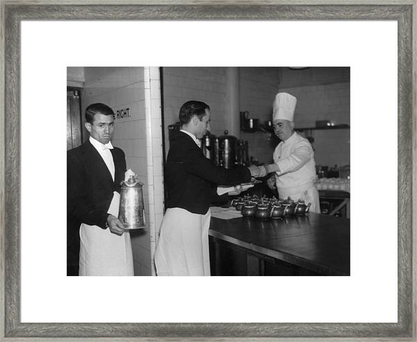 Collecting Drinks Framed Print