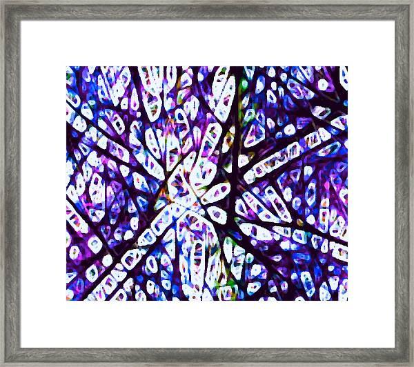 Collision 1 Purple Framed Print