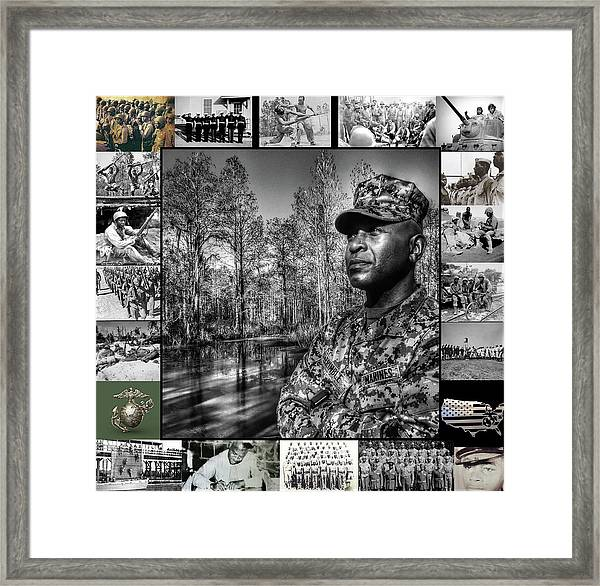 Colonel Trimble Collage Framed Print