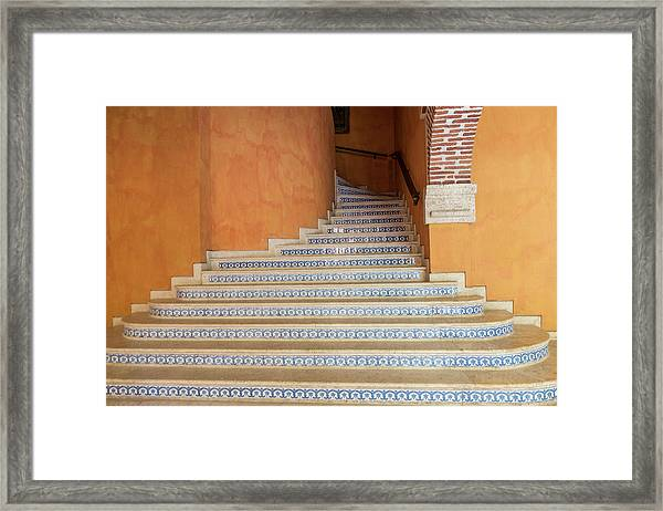 Framed Print featuring the photograph Colonial Stairs by Juan Contreras