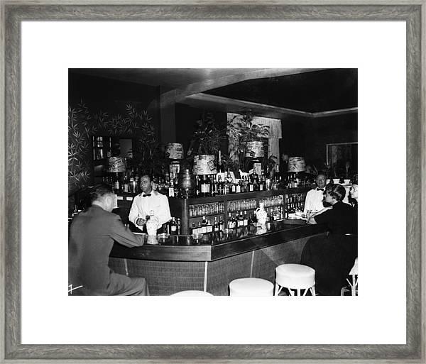 Colony Hotel Bar, Palm Beach, Florida Framed Print