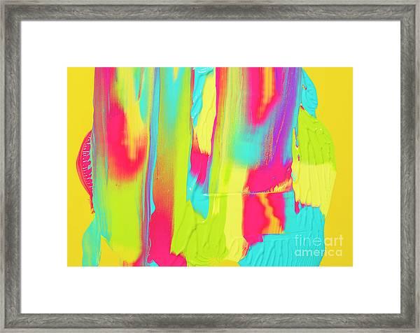 Color Ink Framed Print by Yagi Studio