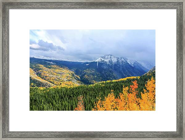 Framed Print featuring the photograph Colorado Aspens And Mountains 3 by Dawn Richards
